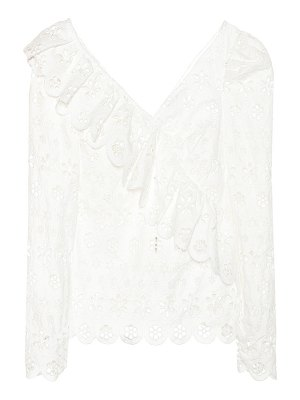 self-portrait Broderie anglaise lace top