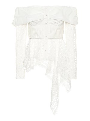 self-portrait Broderie anglaise top