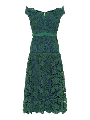 self-portrait floral-lace midi dress