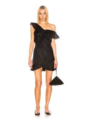 self-portrait one shoulder frilled dress