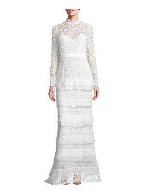 self-portrait Primrose Tiered Lace Gown