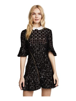 self-portrait sequin embroidery dress