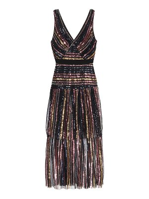 self-portrait sequined midi dress