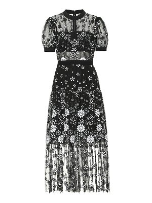 self-portrait sequined tulle dress