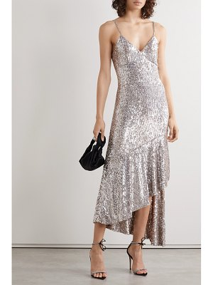 SemSem asymmetric sequined tulle midi dress