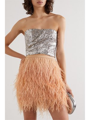 SemSem cutout sequined tulle bustier top