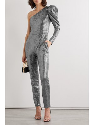 SemSem one-sleeve sequined stretch-knit jumpsuit