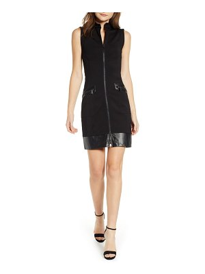 SENTIMENTAL NY ponte & faux leather dress