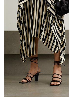 Serena Uziyel ophilia braided rope and leather sandals
