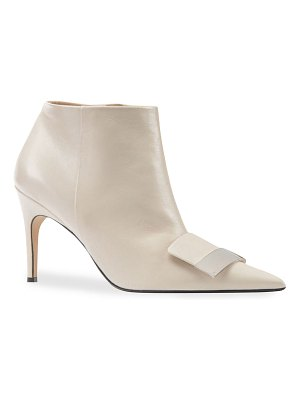 Sergio Rossi SR1 75mm Leather Booties