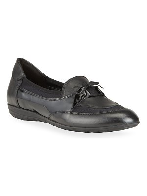 Sesto Meucci Blair Mixed Leather Ballerina Loafers