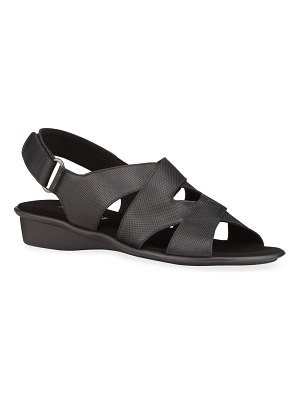Sesto Meucci Easton Leather Comfort Wedge Sandals