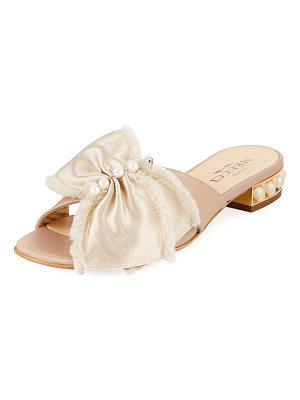 Sesto Meucci Wesi Pearl and Bow Slide Sandal