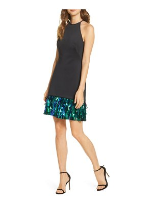 SHO by Tadashi Shoji tiered sequin hem cocktail dress