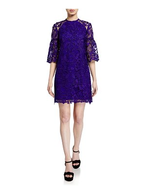 Shoshanna Broome Floral Lace Short Dress