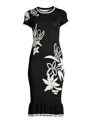 Shoshanna leah floral knit bodycon dress