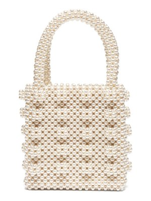 Shrimps antonia faux-pearl embellished bag
