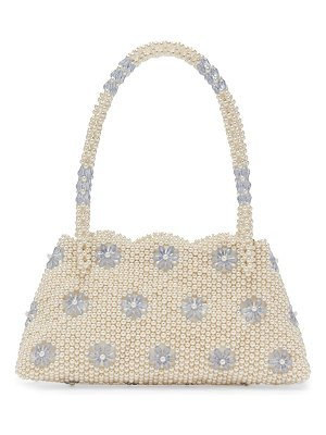 Shrimps astrid faux pearl and crystal embellished bag