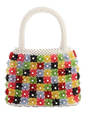 Shrimps Avery multicolor beaded bag