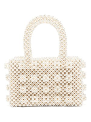 Shrimps bell faux-pearl embellished bag