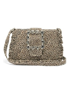 Shrimps charles leopard-print canvas cross-body bag