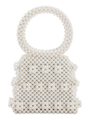 Shrimps Dante beaded top handle bag