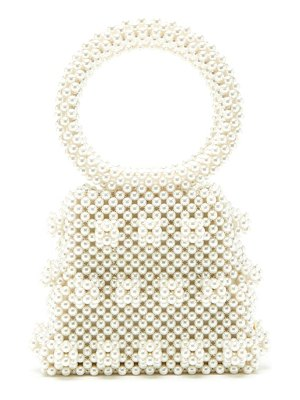 Shrimps dante faux-pearl embellished bag