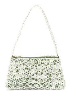 Shrimps dawson floral-beaded and faux-pearl bag