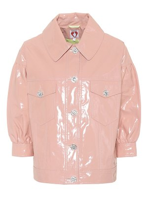 Shrimps faux patent leather blouson jacket