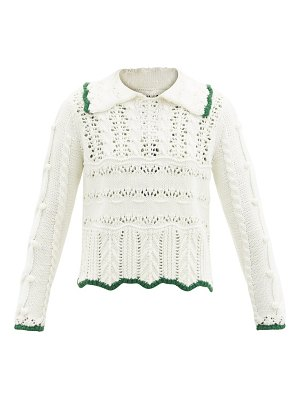 Shrimps fritz contrast-trim wool-blend sweater