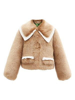 Shrimps heath lace-trim faux-fur coat
