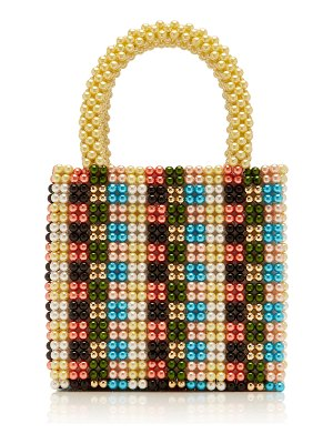 Shrimps hector faux pearl tote