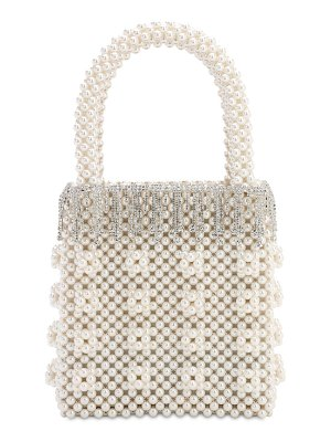 Shrimps Huckleberry beaded top handle bag