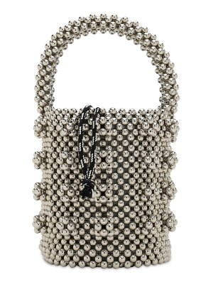 Shrimps Poppy beaded top handle bag