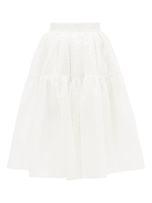 Shrimps ray broderie-anglaise organza skirt