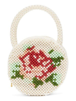 Shrimps rosa round faux-pearl bag