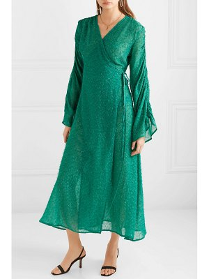Sid Neigum fil coupé chiffon wrap dress