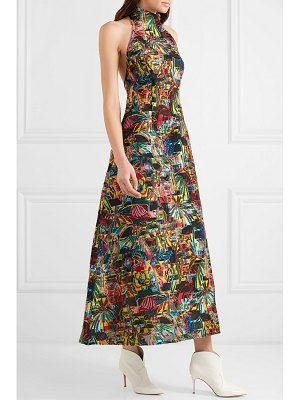 Sid Neigum fil coupé halterneck maxi dress
