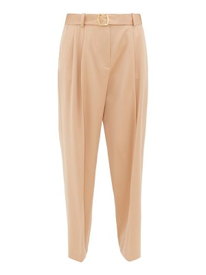 SIES MARJAN belted wide-leg wool trousers