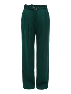 SIES MARJAN blanche topstitched wool wide leg trousers