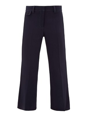 SIES MARJAN dese topstitched cropped trousers