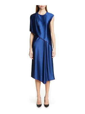 SIES MARJAN draped crinkle satin dress
