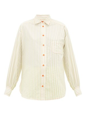 SIES MARJAN emanuela puffed sleeve striped cotton blend shirt