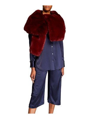 SIES MARJAN Faux-Fur Shrug