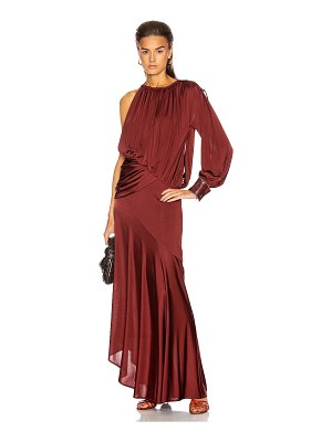 SIES MARJAN gia fluid satin jersey draped evening gown