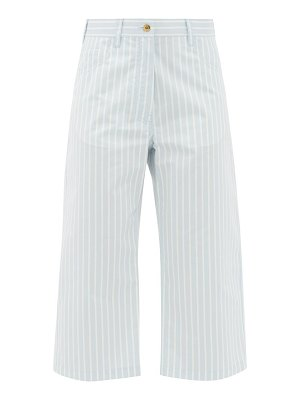 SIES MARJAN issa striped cotton-blend cropped trousers