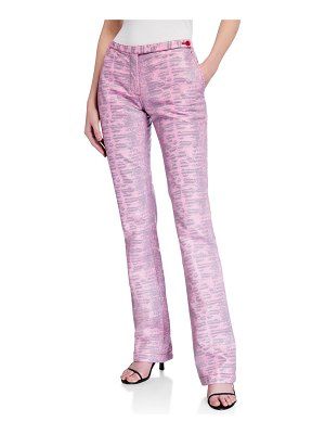 SIES MARJAN Karima Lizard-Embossed Straight-Leg Pants