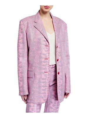 SIES MARJAN Molly Embossed Lizard Oversized Blazer
