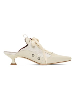SIES MARJAN off-white alice lace up mules