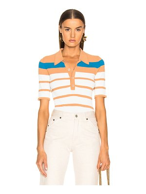 SIES MARJAN rory collared short sleeve knit top